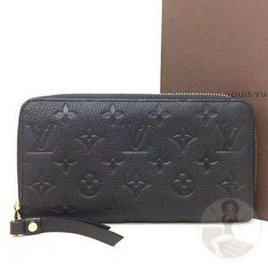 Louis Vuitton Monogram Zippy Wallet+Dust Bag +Box